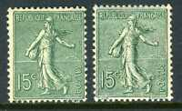 France 1903 MINT 15¢ Sower TWO TYPES Mint Hinged Z307 ⭐⭐