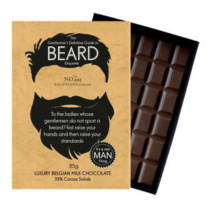 Novelty Chocolate Gifts For Bearded Men Women Friends Funny Greeting Beard Card