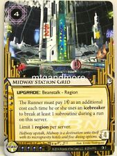 Android netrunner LCG - 1x Midway estación Grid #007 Overdrive Corporation draft