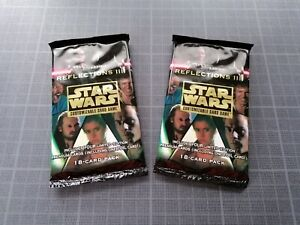 Star Wars CCG Reflections III Card Booster Pack (sealed) (x2)