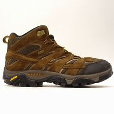 Merrell Mens Moab 2 Mid Hiking Waterproof Leather Athletic Trail Boots Size 12