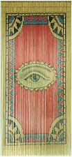 TACHILC Bamboo Beaded Curtain for Doorway, Wall Hanging, Room Divider - The Eye