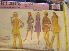 Vintage Original 60's   Ladies  Mixed  McCall's Sewing Pattern Size 14 Cut