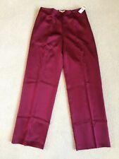Talbots Womens Silk Evening Pants - Bordeaux   Size 6   MSRP  $118   NWT