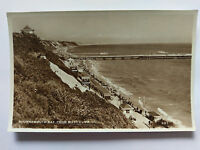 Bournemouth Bay from West Cliff Vintage B&W Postcard 1958