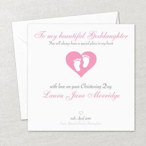Personalised Handmade Christening Baptism Naming Card Daughter Girl Goddaughter