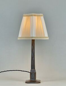 BROUSSEVAL : A FRENCH 1930 ART DECO LAMP  in cast iron ............. 1925 France