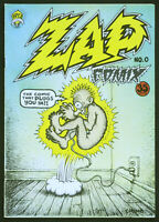 Zap Comix #0, 2nd printing, FN 6.5, cover by Robert Crumb