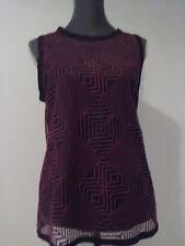 Nanette Lepore Beautiful Burgundy Crochet Blouse Top Size 10 NWT