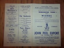 WORKINGTON v WIDNES  10/02/65