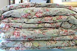 Ralph Lauren Charlotte Full Queen Sage Green Floral Comforter Bedspread Used