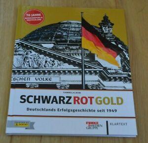 Panini Schwarz Rot Gold Sticker Hardcover Leeralbum Album 70 Jahre Deutschland