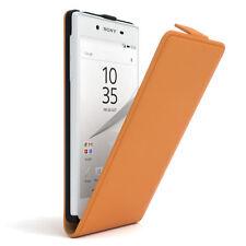 Bolso para Sony Xperia z5 flip case protectora, funda, estuche, Orange