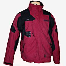 Spyder Dark Red Black Team Venom Colorblock Snowboard Ski Insulated Jacket L
