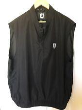 "Footjoy Mens Large Black Golf Vest ""PVCC"" EUC"