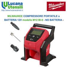 MILWAUKEE COMPRESSORE PORTATILE a BATTERIA 12V modello M12 BI-0 - NO BATTERIA -