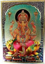 BILD Ganesha GANESH Prägedruck INDIEN Poster Kunststoff Vorlage Tattoo edel (285