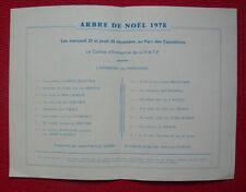 Programme de cirque Arbre de Noël RATP 1978