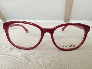 Brille Fassung Brillengestell CALVIN KLEIN rot Zweischicht NEU und ungetragen
