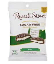 Russell Stover *Sugar Free* MINT Chocolate Candy 3 Oz Bag- Made with Stevia