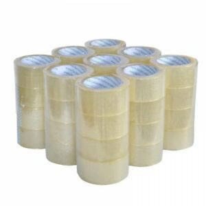 Heavy Duty Sealing Pack Clear Packing/Shipping/Box Tape, 12 Rolls Carton
