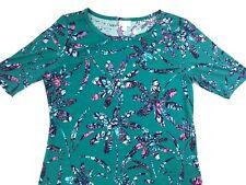 LulaRoe Gigi Sz XL - Teal Green Floral - NEW