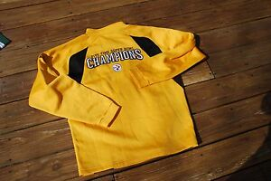Pittsburgh Steelers Adult Medium Yellow 5-Time SuperBowl Champion Reebok Sweater
