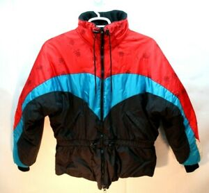 Vintage POLARIS Snowmobile Jacket Retro Colors Size Small - Snowflake / Coat