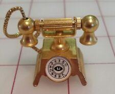 1:12 SCALE MINIATURE GOLD TELEPHONE