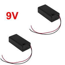 2x 9V Battery Box with On / Off Switch 9 volt Holder with Power Switch USA