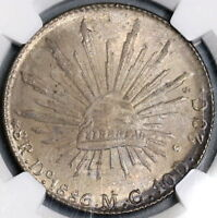 1886-Do NGC MS 64 Mexico 8 Reales Durango Mint Silver Coin Pop 2/2 (18092501C)