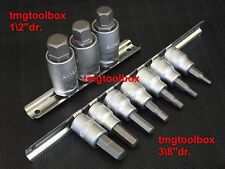 12 PC METRIC ALLEN HEX KEY BIT SOCKET SET 3/8 & 1/2 DR HEAVY DUTY 17,14,12,10,8,