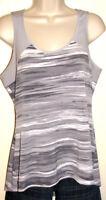 Calvin Klein Gray Striped Stretch Tank Top Size Medium