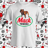 New Mack Trucks Trucker Bulldog Logo Men's White T-Shirt Size S-3XL