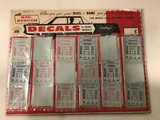 """1960'S Mini-Monicker Decal Counter Display For Mini-Models """"Challenger"""" Card No."""