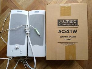 Altec Lansing ACS21W Speakers NIB use with Computer, Laptop, Phone, Television