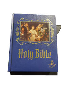1971 Masonic HOLY BIBLE Master Reference Edition Heirloom RED LETTER Beautiful!!