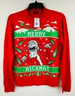NWT Rick & Morty Ugly Christmas Sweater 'Merry Rickmas' Men's Size Small