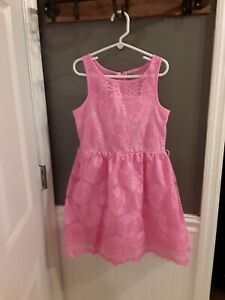 Justice size 8  pink  floral  dress spring Easter GUC 😁FAST SHIP 😀