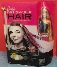 NIB Barbie Designable Hair Extensions, Doll & Hair Clips NRFB Mattel 2011 Opened