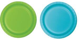 Monsters Inc / Uni Party Plates Blue OR Lime Plates 23cm 8pk - Party Supplies