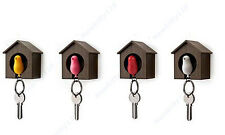 Bird Nest Sparrow House Key Chain Wall Hook Holder Keyring Plastic Whistle New