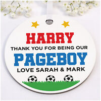 PERSONALISED Page Boy Ring Bearer Thank You Gifts Football Wooden Plaque Gifts