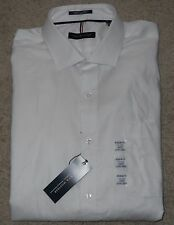 """Tommy Hilfiger White Shirt Cotton Long Sleeve New XL 17 - 17.5"""" neck"""
