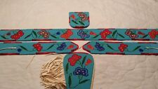 Montana  Hand Beaded Crow Indian Belt, Belt Buckle,  Arm Bands & Wrist Cuff
