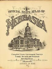 Nebraska State 1885 Atlas maps old Genealogy Dvd S19