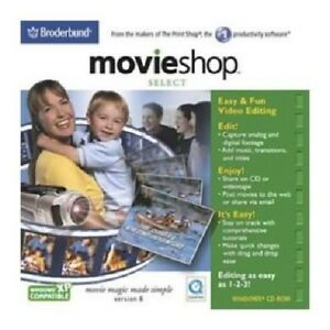 MovieShop 6 Select Pc New Cd Rom In Paper Sleeve XP