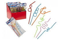 6 x Kids Fun Crazy Curly Swirl Twisty Party Drinking Novelty Reusable Straws