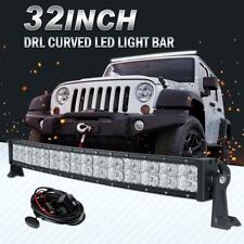 "32"" 420W Curved CREE Led Bar Cross DRL Combo Light Offroad Driving Truck 4WD ATV"