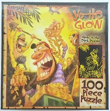 CEACO® 100pc GARY LOCKE • YO-HO GLOW • PIRATES & TREASURE • PUZZLE Jig Saw USA